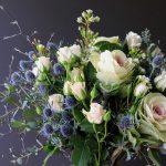 bouquet-kale-roses-thistle