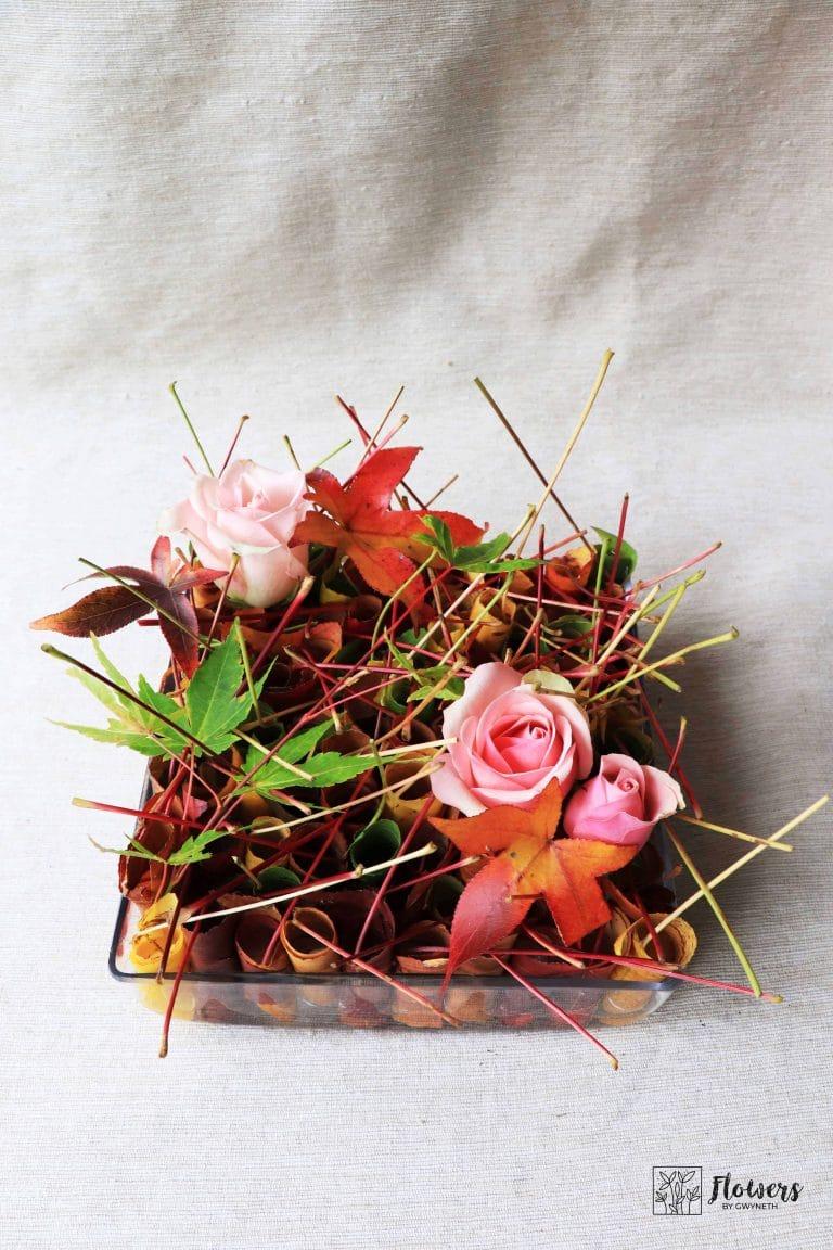 Celebrating Autumn Colours with Creative Flower Arrangement