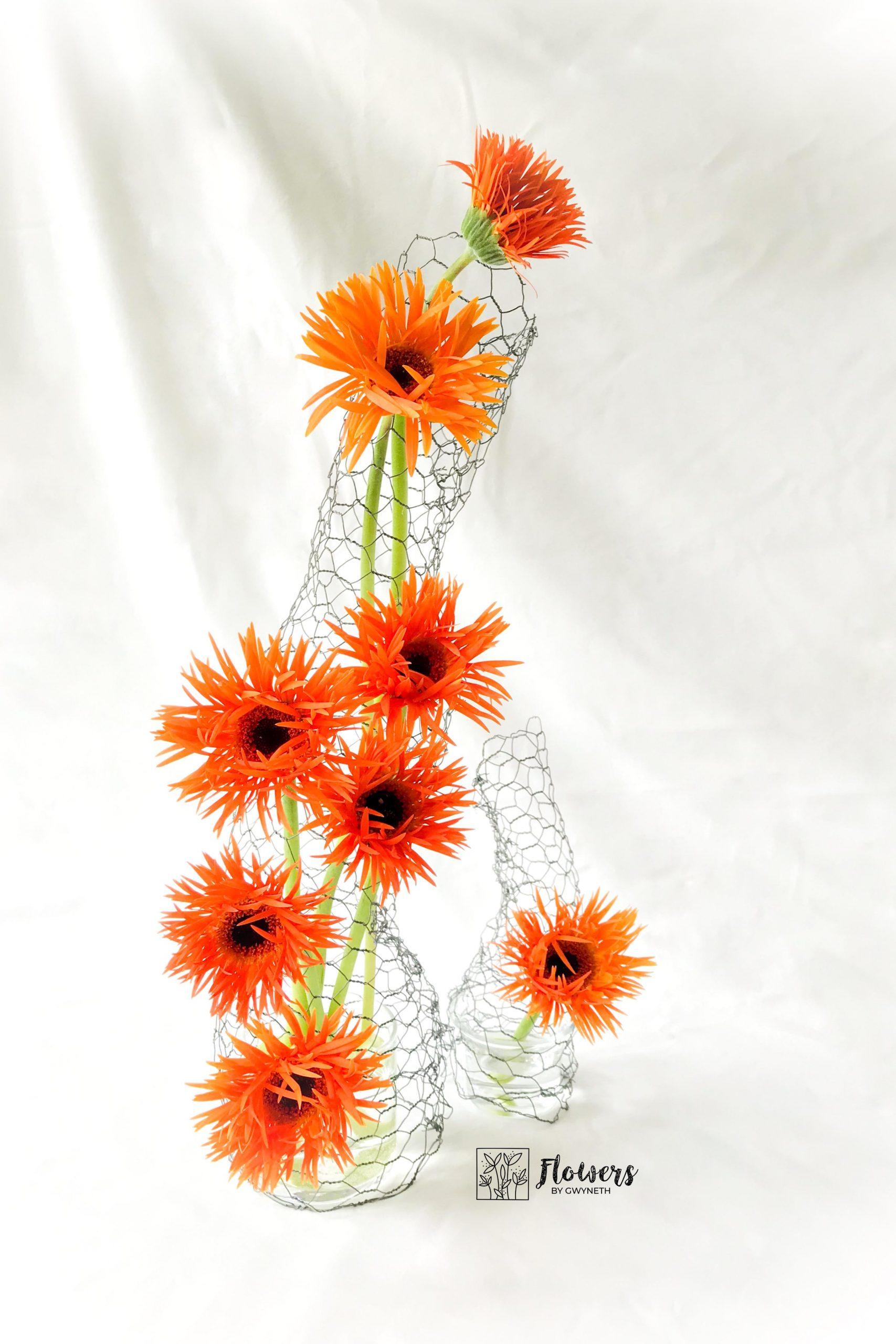 Arranging Gerbera Flowers