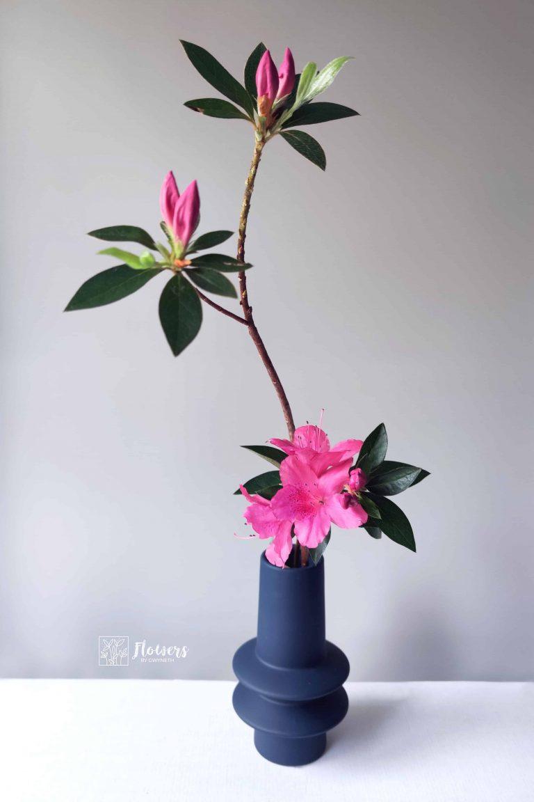 ikebana line vertical arrangement