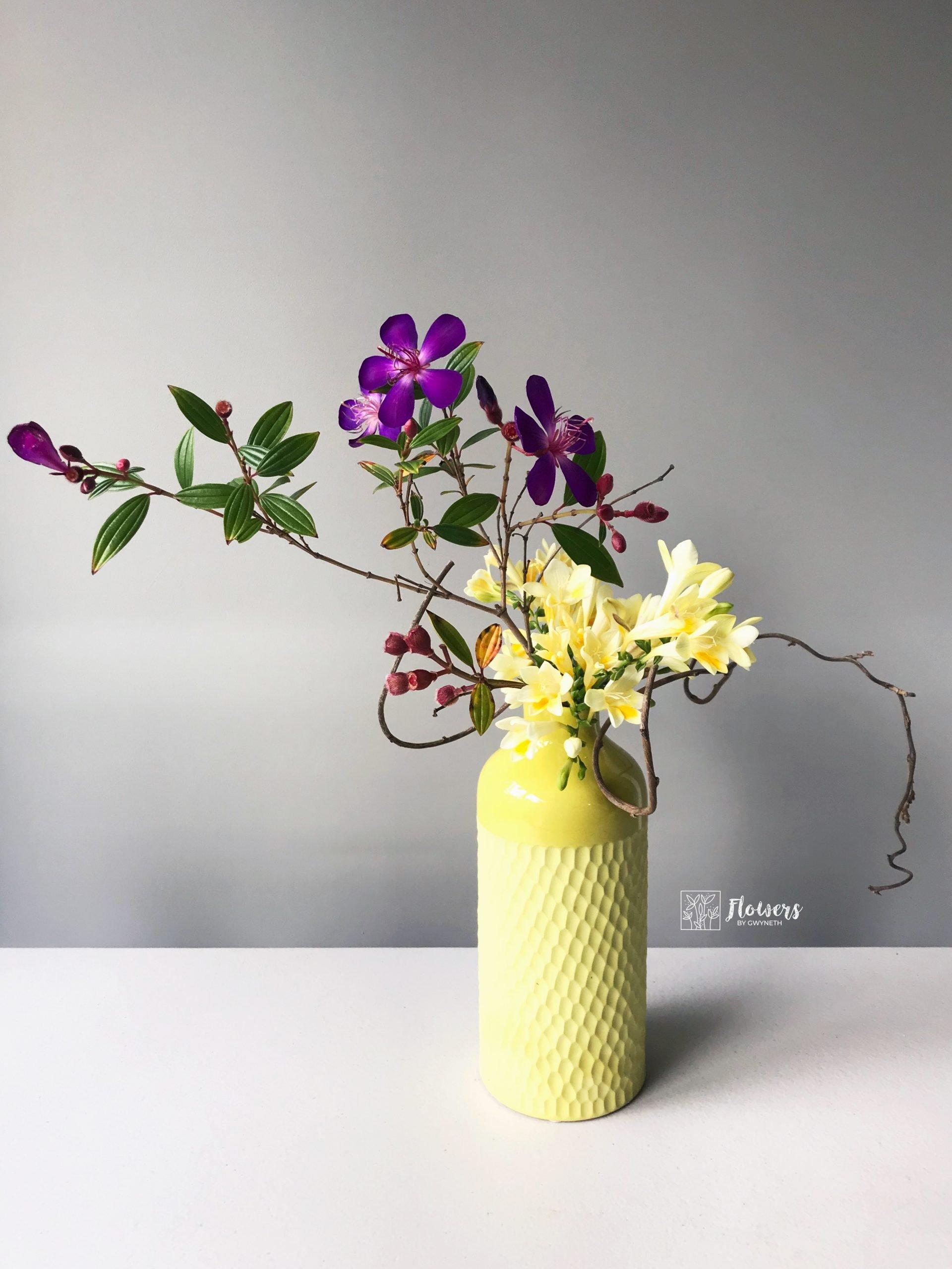 Ikebana Arrangement emphasising colours