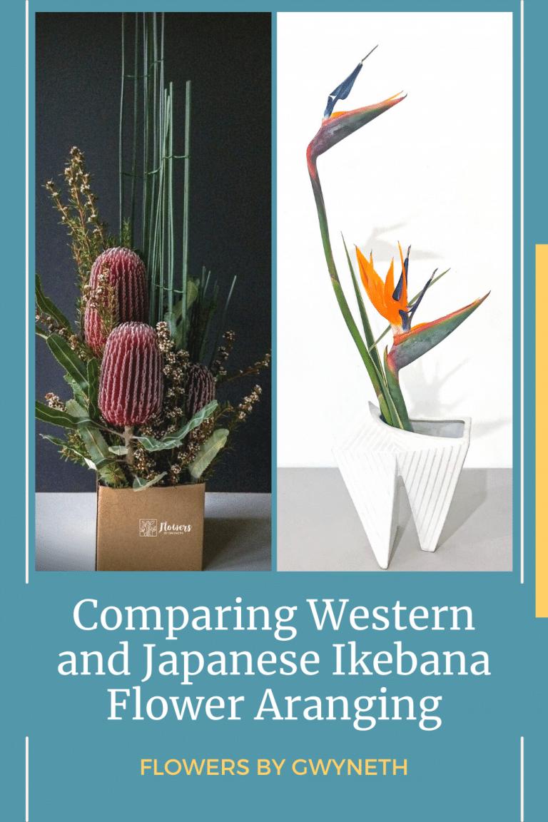 Western vs Japanese Ikebana Flower Arranging