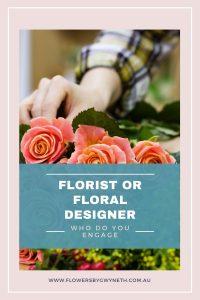 florist or floral designer