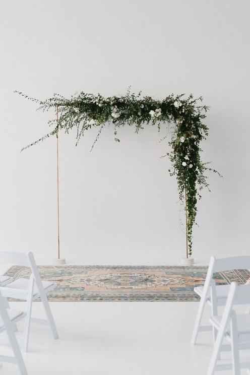 Floral Installation - Minimalist Arbour